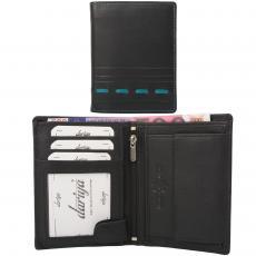 Color Exclusive Rindleder Geldbörse mit großem Kleingeldfach, 7 Kartenfächer