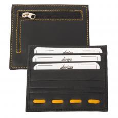 Flacher Kartenhalter für 3 Karten mit Münzfach schwarz/gelb