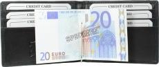 Geldbörse Dollarclip mit Kleingeldfach - Lamm Nappa schwarz uni