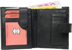 Geldbörse Nappa-Leder mit Außenriegel schwarz