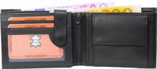 Geldbörse Nappa-Leder Scheintasche schwarz