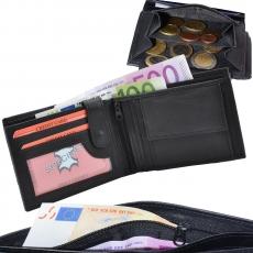 Geldbörse Nappa-Leder Scheintasche mit Reißverschluss Scheinfach