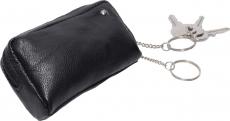 Schlüsseltasche mit 2 Ringen - Nappa Leder