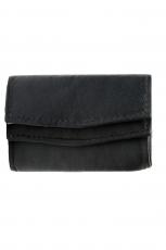 Mini Geldbörse mit doppeltem Überschlag - Nappa Leder