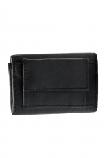 Mini Geldbörse mit doppeltem Scheinfach - Nappa Leder