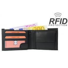RFID Protect - Geldbörse Nappa-Leder Scheintasche schwarz