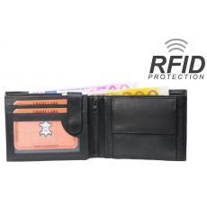 RFID Protect - Geldbörse Nappa-Leder Scheintasche mit Reißverschluss Scheinfach