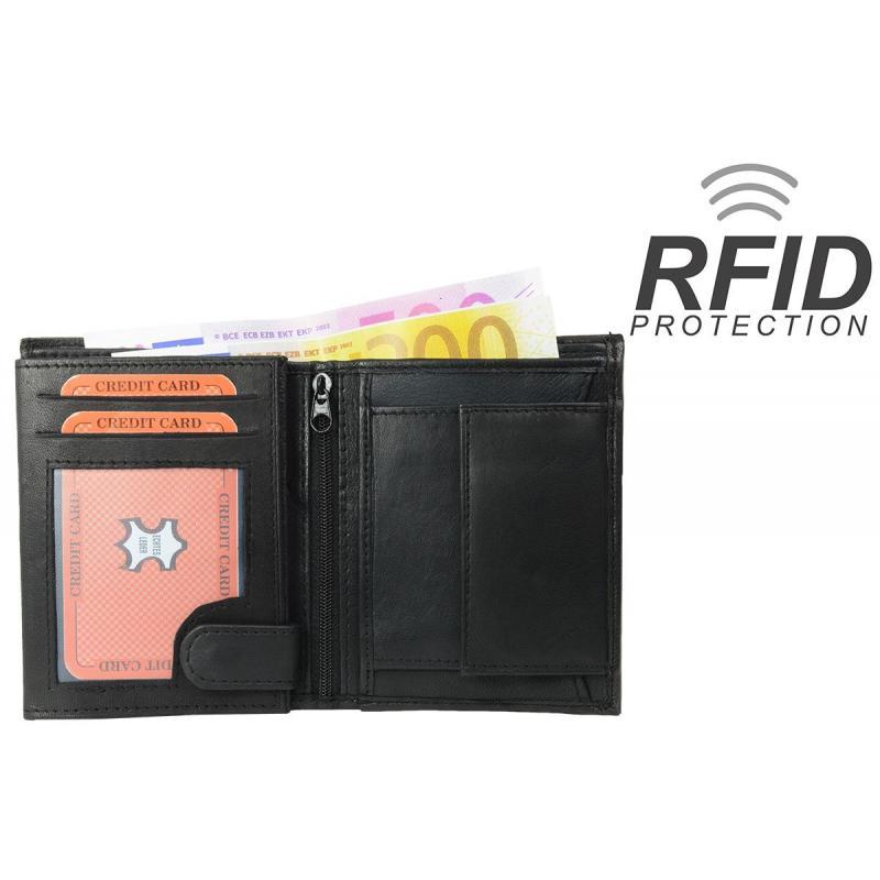 ed605a8ddb78d RFID Protect - Geldbörse Nappa-Leder Kombibörse schwarz - iMPEX ...