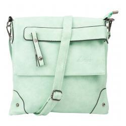 dariya® Freizeit Umhängetasche / Crossbody Tasche mit Überschlag und verdecktem Reißverschlussfach - mint grün