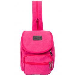 dariya® Kleiner sportlicher Canvas City-Rucksack pink