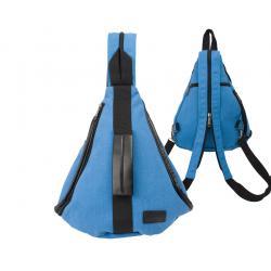 dariya® Dreieckiger sportlicher Canvas City-Rucksack blau