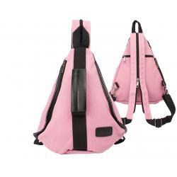 dariya® Dreieckiger sportlicher Canvas City-Rucksack rosa