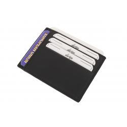 Flacher Kartenhalter für 6 Karten, 2 Fahrzeugscheine, 1 Dokumentfach Nappa Leder