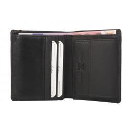 Color Exclusive Kleine Rindleder Geldbörse mit großem Kleingeldfach, 6 Kartenfächer