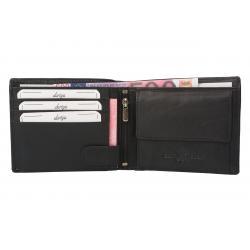 Color Exclusive Rindleder Geldbörse mit großem Kleingeldfach, 6 Kartenfächer