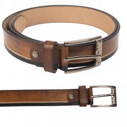 2-farbiger Leder Gürtel 140 cm