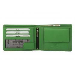Hochwertige Rindleder Geldbörse mit Doppelnaht  - grün