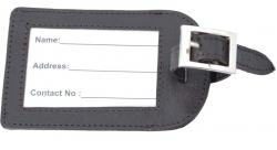 Kofferanhänger / Reiseanhänger Echt-Leder dunkelbraun