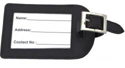 Kofferanhänger / Reiseanhänger Echt-Leder schwarz