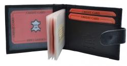 Kreditkartenetui Querformat - 14 Hüllen mit Außenriegel - Nappa Leder
