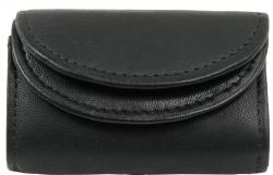 Mini Geldbörse mit doppeltem Rundüberschlag - Nappa Leder