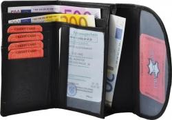 Bauchtasche mit Fronttasche Reißverschluss - Nappa Leder braun