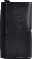 Damenbörse Echt-Leder kompakt schwarz