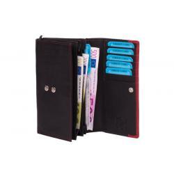 Kompakte Damenbörse mit Reißverschluss schwarz