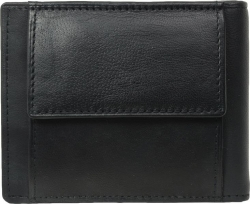 Große Damenbörse - 2 Reißverschlüsse rundum - Vollrind Leder dunkelbraun
