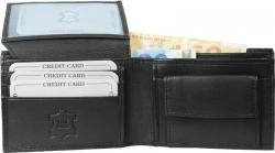 Geldbörse Nappa-Leder Scheintasche (klein) schwarz