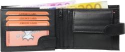 Geldbörse Nappa-Leder Scheintasche mit Außenriegel schwarz