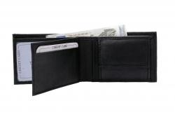 Kleine Geldbörse Querformat - Nappa Leder