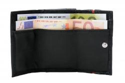 Minibörse mit 2 Scheinfächern und Hartgeldfach - Nappa Leder