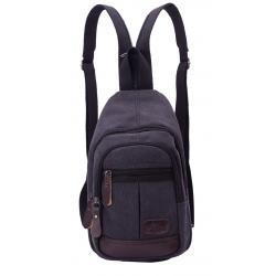 dariya® Basic - Handtasche mit doppeltem Reißverschluss creme mit grau
