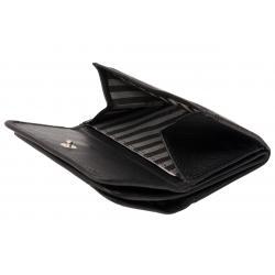 Hochwertige Rindleder Geldbörse mit Doppelnaht  - hell tan uni